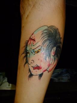 生首 Namakubi tattoo