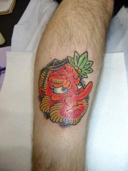 天狗 Tengu mask tattoo