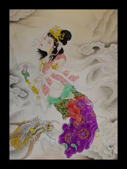 天女 天人 龍 / Tennyo or Tennin and Dragon