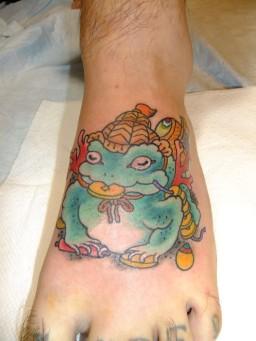 """青蛙神 せいあじん Three legged toad""""Sei a jin"""" Lucky toad/ Lucky frog."""