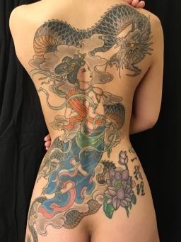 天女 天人 龍 / Tennyo or Tennin & Dragon
