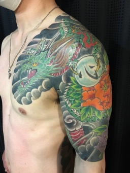 龍 五分袖 dragon half sleeve