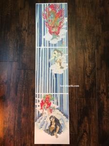 文覚那智滝荒行 Mongaku Fudo myo o and 2attendants vertical triptych