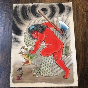 Kintaro fighting Karasu tengu