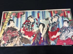豊原国周 伍俳優時世大山 1882 Kunichika/Goninzure Tokini Oyama/1882 #浮世絵#木版画#錦絵#ukiyoe#woodblockprint#meiji