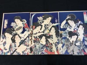 豊原国周 花勇女水滸伝 1869 Kunichika/Hanayujo Onna Suikoden/1869