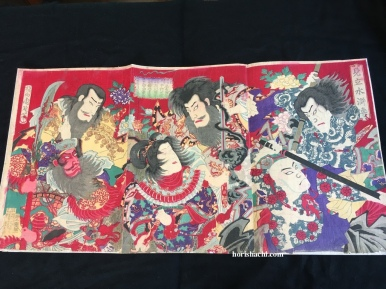 揚州周延 見立水滸伝 明治期 Chikanobu/Mongaku Shonin/Meiji period #浮世絵#木版画#錦絵#ukiyoe#woodblockprint#meiji