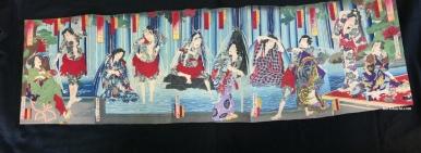 豊原国周 有瀧恵花形 1883 Kunichika/Arigataki Megumi no Hanagata/1883 #浮世絵#木版画#錦絵#ukiyoe#woodblockprint#meiji