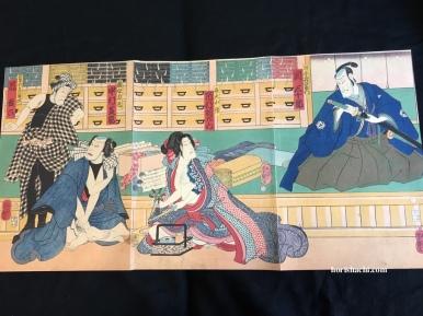 一英斎芳艶 弁天小僧 江戸期 Yoshitsuya/Bentenkozo/Edo period #浮世絵#錦絵#木版画#ukiyoe